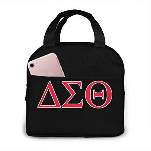 Delta Sigma Theta Lunch Bag for Women Girls Kids Insulated Picnic Pouch Thermal Cooler Tote Bento Large Meal Prep Cute Bag Big Leakproof Soft Bags for Lunch Box, Camping, Travel, Fishing