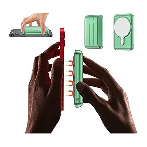 Cargador Portátil Inalámbrico De Banco De Energía Magnético 10000mah, 15w QI Cargador Rápido Portátil Con Cable USB C PD QC 3.0 Power, Batería Externa Compatible Con IPhone 12, (actualización 2021)