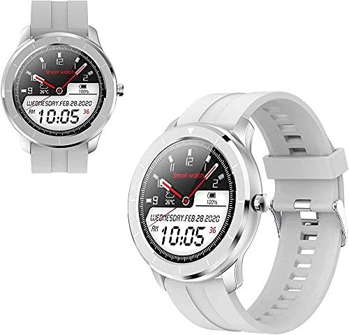 Reloj inteligente de moda / pantalla a color de 1.3 pulgadas / monitoreo del sueño/rastreador multifunción de ejercicio - blanco