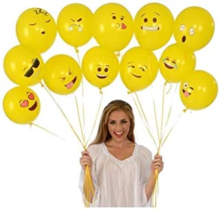 Party Propz Emoji Theme (Balloons 50Pcs) / emoji balloon / emoji party / balloons birthday