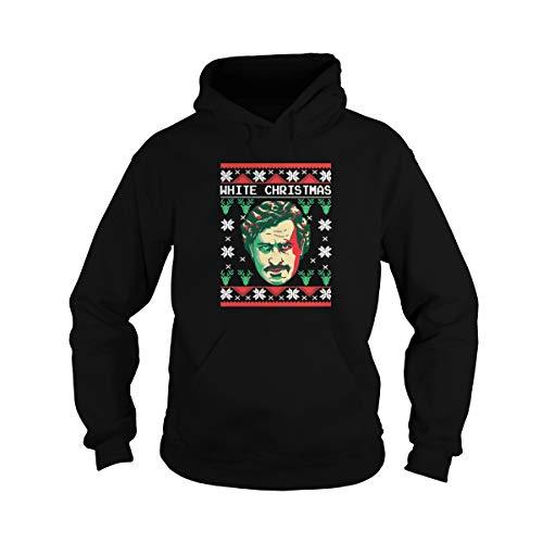 Uzubunki - Sudadera con capucha y capucha para Navidad, color blanco