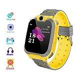 Smart Watch Waterproof for Children SOS Call Anti Lost Monitor Baby Wrist Watch Game Music Camera (Yellow)