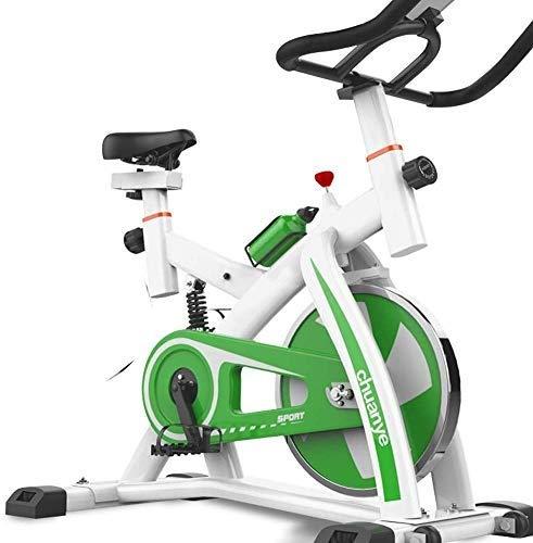 JCCOZ Cubierta de Bicicleta de Ejercicios Ciclismo, Spin Bike Cardio Entrenamiento Manillar Ajustable Asiento Seguir sensores de frecuencia cardíaca Resistencia Digital