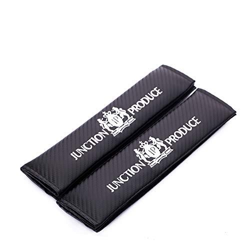 TDPQR 2 Piezas Almohadillas para Cinturón de Seguridad Coche Bordado con Marca de Logo Protectores de Coche Hombro para Mercedes Benz BMW Coche Estilo Interior Accesorios