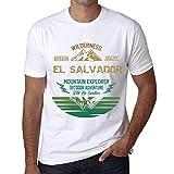 Hombre Camiseta Vintage T-Shirt Gráfico EL Salvador Mountain Explorer Blanco