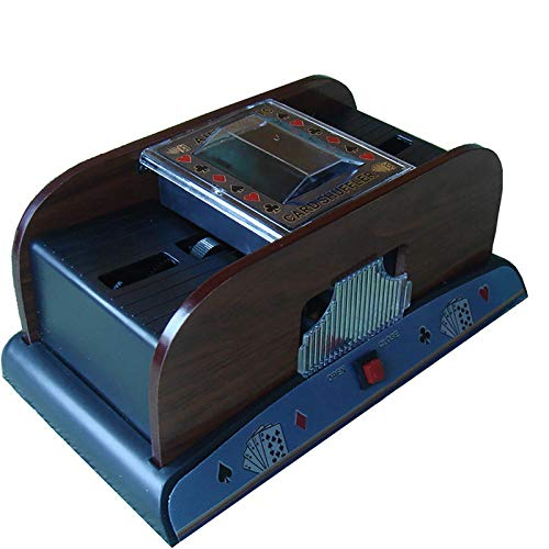 IPRE Automatic Card Shuffler, Wooden Card Shuffler Machine Poker Battery Powered Electronic Professional Card Shuffler for Casino for Home (24.514.211cm)