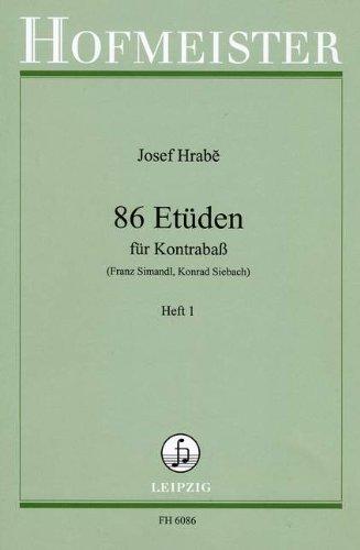86 ETUEDEN BD 1 - arrangiert für Kontrabass [Noten / Sheetmusic] Komponist: HRABE JOSEF