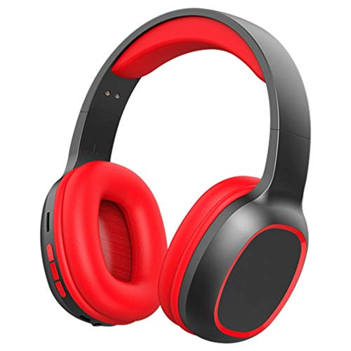 5.0 TV HiFi Headphone 9D Stereo TV Inalámbrico con Transmisor Stick para TV Rojo Negro