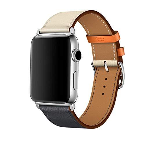 Bucle de cuero colorido para Apple Watch Band Series 6 / SE / 3/2/1 Pulsera deportiva 42mm 38mm Correa para iwatch 4/5 Band 40mm 44mm