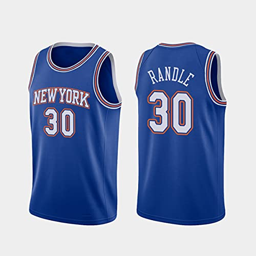 CYYX Jersey Men's, NBA New York Knicks # 30 Julius Randle Classic Jersey, Tejido Fresco Transpirable, Fan de Baloncesto Unisex Sin Mangas Sports Chaleco Top,D,XXL