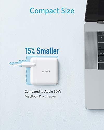 Anker PowerPort+ Atom III Kompaktes 60W PIQ 3.0 & GaN Tech USB-C-Wandladegerät, Doppel-Port mit PIQ 2.0 USB-A und 45W USB-C, USB-C Laptops, Macbook, iPad Pro, iPhone, Galaxy, Pixel und mehr