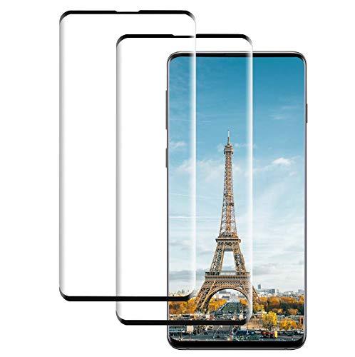 Schutzfolie kompatibel mit Samsung Galaxy S10, [2 Stück] 9H Härte 3D Volle Abdeckung Panzerglasfolie,Anti-Kratzen Anti-Öl Blasenfrei HD Displayschutzfolie für Galaxy S10