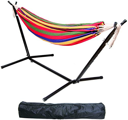 BalanceFrom Double Hammock with Space Saving Steel Stand and...