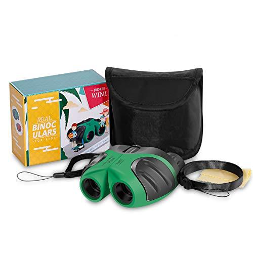 Kompakt Fernglas FÜR Kinder,JRD&BS WINL 8 X 21 Das Beste Spielzeug FÜR 4-9 Jährige Jungen Feldstecher Vogelbeobachtung Reisen Sightseeing(GrÜN)