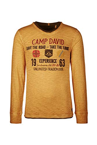 Camp David Herren Longsleeve im Layer Look mit Artwork