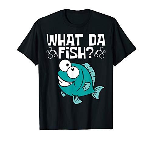 Lustiges What the Fish Angeln Fischen Hochseefischen Angler T-Shirt
