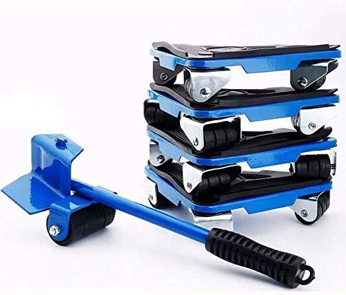 genneric 5PCS Heavy Duty Möbel Shifter Lifter, 360-Grad-Labor-Einsparung for Tisch Sofa Schrank (Color : Blue)