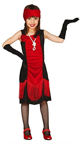 FIESTAS GUIRCA Disfraz Rojo y Negro Bailarina Charleston niña Talla 10-12 años