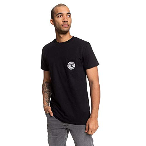 DC Shoes Basic - Camiseta con Bolsillo para Hombre Camiseta con Bolsillo, Hombre, Black, XS