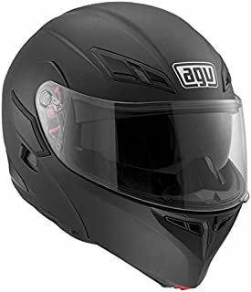 AGV Numo Modular Motorcycle Helmet (Matte Black, Small)
