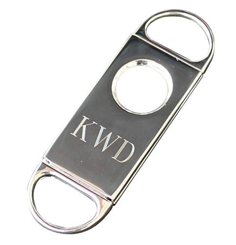 Customized Cigar Cutter with 1 Line of Engraving - Wedding Groomsmen Gift - Personalized Monogrammed and Engraved for Free