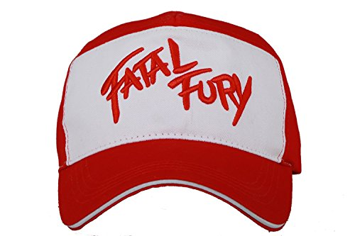 DealTrade Halloween Terry Bogard Hut Spiel Kappe Cosplay Kostüm Erwachsene Herren & Damen Rot Weiß Baseball Mütze Fancy Dress Merchandise Zubehör