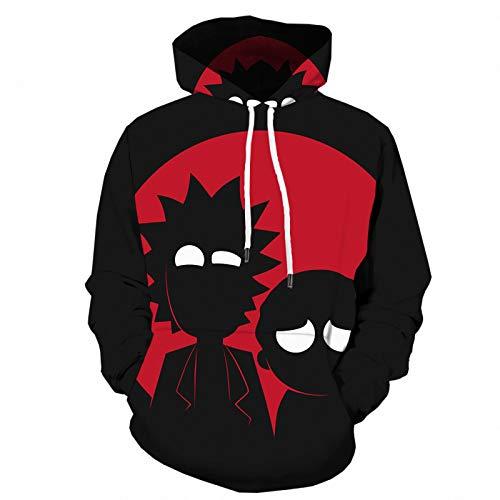 HOSD schwarz Cartoon Sport Pullover Anime 3D-Digitaldruck Kapuzenjacke Herrenpullover