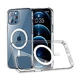 Crystal Clear Magnetic HüLle Kompatibel mit iphone 12/12 Pro,Mag-safe Kompatibler Metallring, Keine Vergilbungen StoßFest TPU Handyhülle füR iphone 12/12 Pro Hülle Transparent 6.1 Zoll