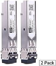 SFP Transceiver Multimode Gigabit Mini-GBIC Module 1000Base-SX Compatible for Ubiquiti UF-MM-1G (MMF, 850nm, 550m, Dual LC,DOM), 2 Pack