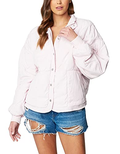 [BLANKNYC] Womens Luxury Clothing Tencel Drop Shoulder Quilted Jacket, Late Night Feelings, X-Small