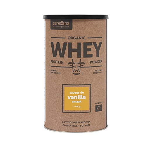 PURASANA Bio Whey Protein-Pulver von österreichischen Kühen aus Bio-Haltung - hervorragende Milch und Molkequalität - Vanille