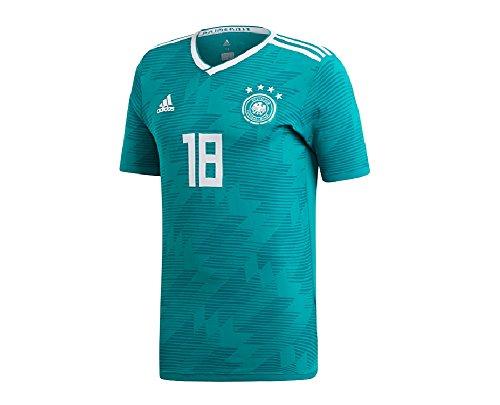 adidas DFB A JSY K 18 - Camiseta 2ª equipación Selección Alemana, Hombre, Verde(Eqtver/AGUREA/Blanco)