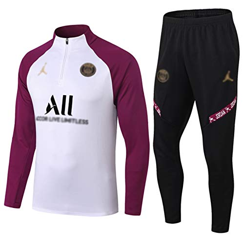 Yunyisujiao Paris vêtements de Sport à Manches Longues, Sweat-Shirt de Football pour Hommes du Club de Football européen, Uniforme d'entraînement Sportif Respirant à Manches Longues (Size : S)