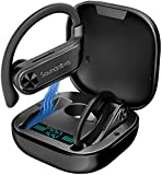 Sports TWS Wireless Earbuds, Soundnova Airsport2-2nd Gen 60H Premium Bluetooth V5.1 Sport Headphones with LED Display Charging Case, Top Deep Bass IPX7 Waterproof Earphones for Gym Running Workout