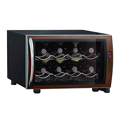 Small Thermoelectric Wine Cooler -8 Bottle Electric Countertop Wine Cooler Refrigerator Beverage Chiller Cellar Fridge Digital Touchscreen Display Panel