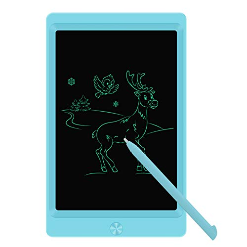LCD Writing Tablet Drawing Board, 8.5 Inch Electronic Drawing Tablet Kids Doodle Board Writing Pad for Kids and Adults at Home, School and Office with Lock Erase Button(Blue)