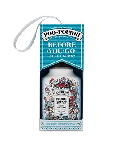 Poo-Pourri Before-You-go Toilet Spray, 2 Fl Oz Merry Spritzmas Scent (Gift Box)