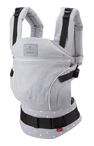 Babytrage bellybutton by manduca  MilkyStars  Exklusive Designer Kollektion, 100% Biobaumwolle, für Babys von 3,5 - 20kg