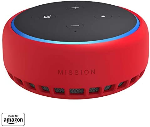 Best Made for Amazon Case for Echo Dot (3rd Gen) - Candy Red