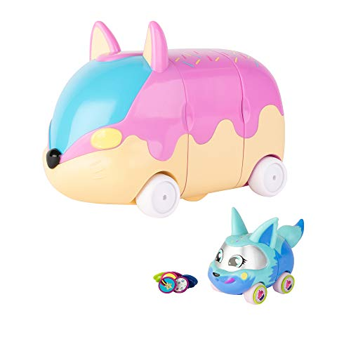 """Tomy 46830 - Juego de 1 minijuego, 1 personaje exclusivo y 16 abalorios de los cuales 6 """"sorpresas"""" en el interior del baúl, color rosa y amarillo , color/modelo surtido"""