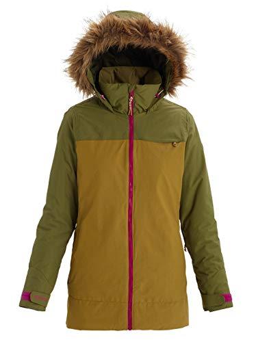 Burton Damen Lelah Snowboard Jacke, Martini Olive/Evilo, XS