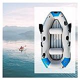 Barco inflable engrosado para 2/3/4 personas, barco de goma inflable plegable de PVC Kayak para adultos Pesca rafting al aire libre (color 2 personas)