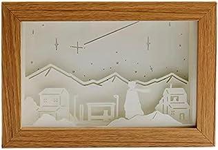 Art Decoratie 3D Papier Carving Light Lamp, Nachtverlichting Creatief Papier Gesneden Lichtdoos Schaduw Licht Warm Romanti...