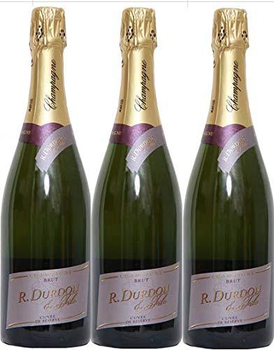 Champagne Brut Durdon Cuvée Réserve en Lot de 3 bouteilles de 75cl