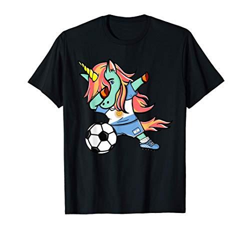 Tamponando Unicorno Argentina Fútbol - Bandera Argentina Camiseta