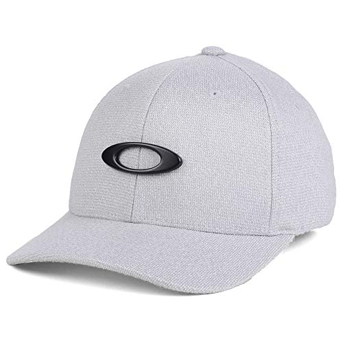 Oakley Tin Can Stretch-Fitted Cap Silver/Black