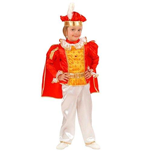 NET TOYS Kleiner König Kostüm Prinz Kinderkostüm 98 cm Prinzenkostüm Edler Märchenprinz Jungenkostüm Prince Kind Faschingskostüm Edelmann Märchenkostüm Junge