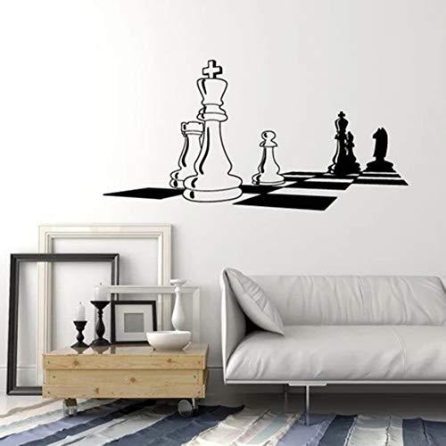 Vinyl Wandtattoo Schachbrett Schwarz Weiß Wandaufkleber Schlafzimmer Wohnzimmer Home Decor Wandbild