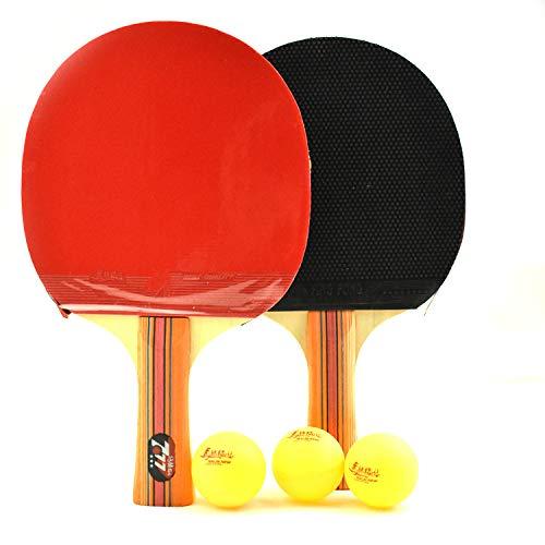 New HUATINGRHPP Ping Pong Table Tennis Racket Sets Ping Pong Paddle School Club Activity Convenience...