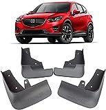 Coche Faldillas Antibarro para Mazda CX5 CX-5 2013-2020, Delantero Trasero Guardabarros De Goma Fender Set Accesorios con Instalación De Clavos